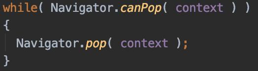 [Flutter] 간결한 코드로 시작 페이지 돌아가기