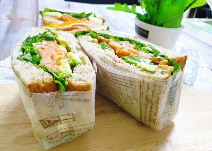 아보카도연어 다이어트 샌드위치 영양가득 아보카도손질법