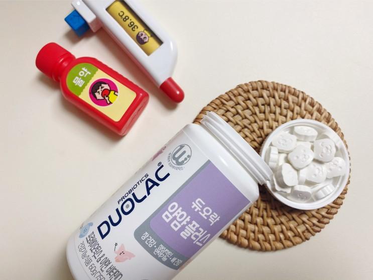 듀오락 얌얌플러스 어린이 츄어블 유산균 매일 아침 공복에 2알씩!