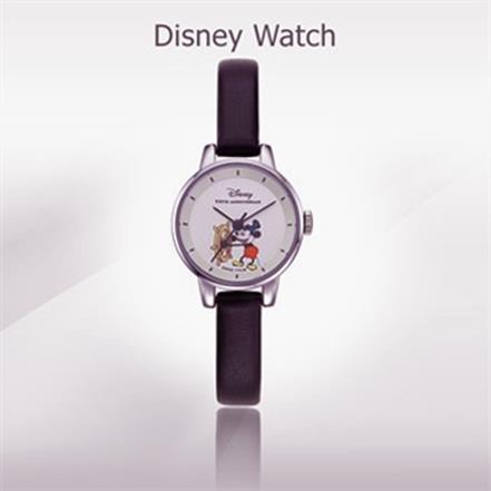 [디즈니] 여성용 가죽시계 OW-158BK (43,000원)