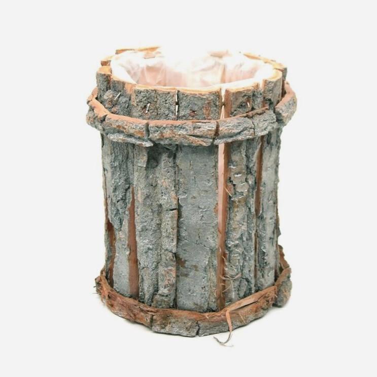 자작나무 우드  원통형  나무화분/트레이 15x20cm (11,760원)