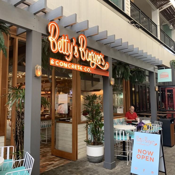 [브리즈번맛집/첨사이드맛집] 웨스트필드 첨사이드 쇼핑센터 햄버거 맛집 베티스 버거 'Betty's Burger'
