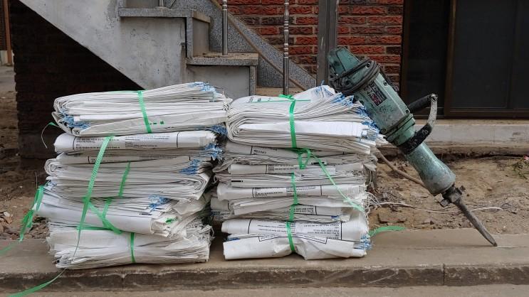 철거 폐기물 반출 관련 장비 및 부자재 폐자재 폐목 혼폐 왈가닥