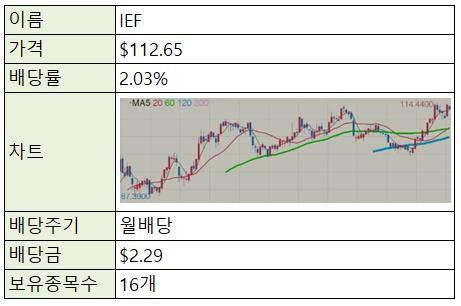 [재테크/주식] 미국주식 ETF - IEF (중기채권)