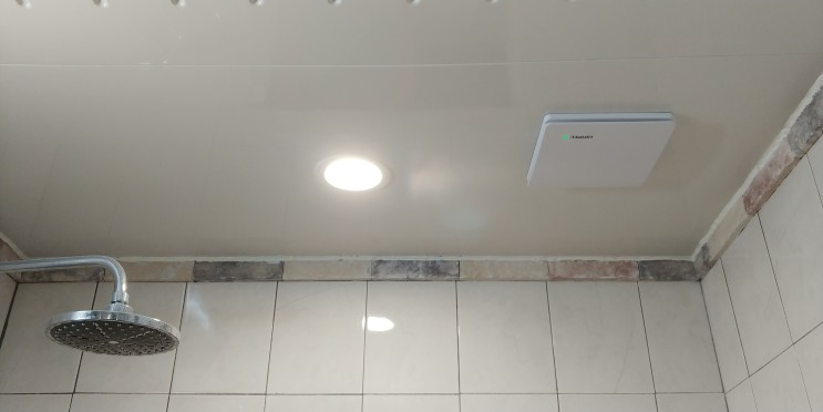 D.I.Y 욕실 다운라이트랑 환풍기 설치하기 ㅎㅎ(Naspil 12W 방습 다운라이트 4000K 아이보리, 힘펠 환풍기 C2-100LF 22W)