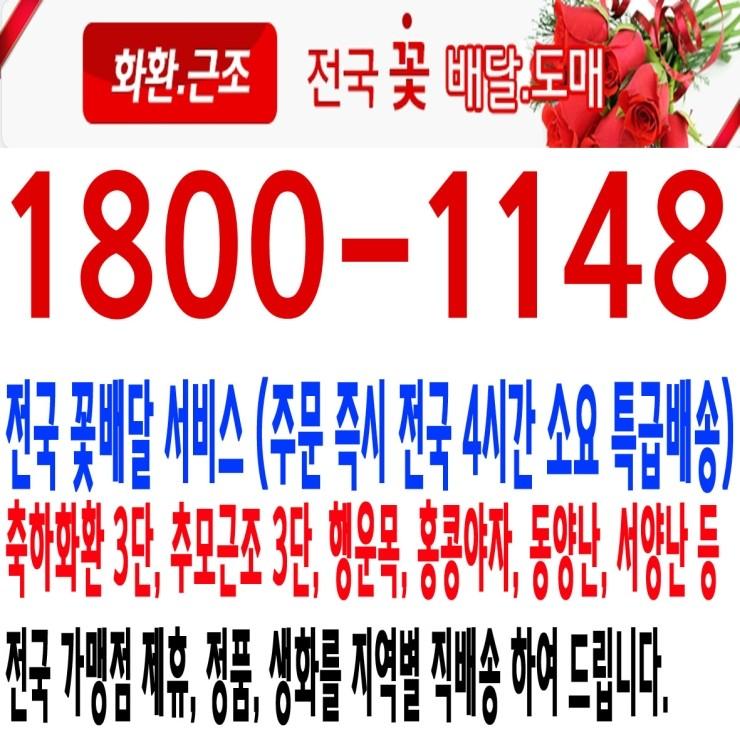 우리병원장례식장 근조,화환,조화,꽃배달 1800-1148