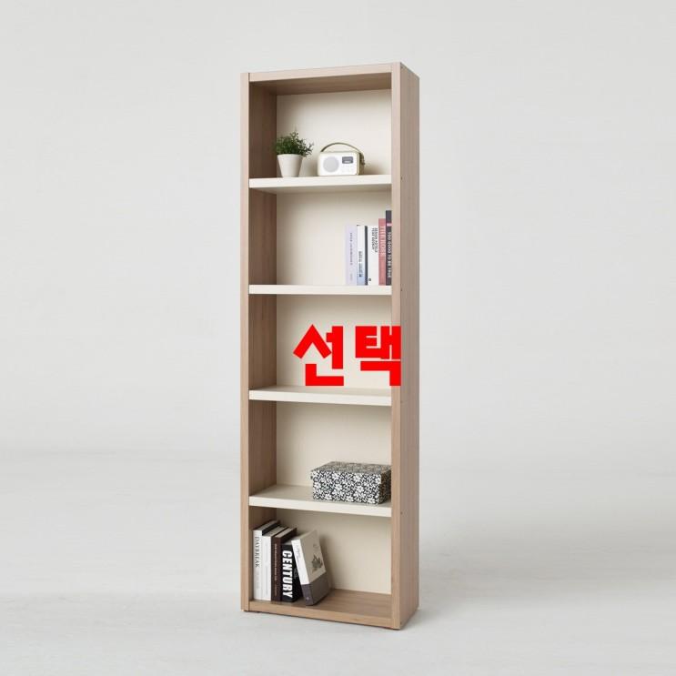 !!한번쯤은 같이보고 싶은 한샘키즈책장 - 10가지 -소티디자인 리브로 투톤 5단책장 600책장 수납장 책꽂이 책장, 내츄럴크림화이트