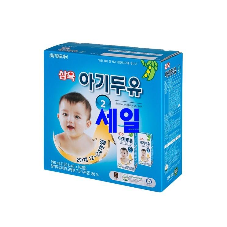 쿠팡 검색하면 바로 나오는 삼육아기두유 - 10가지 -삼육두유 아기두유 2단계 190ml, 검은콩, 16개입
