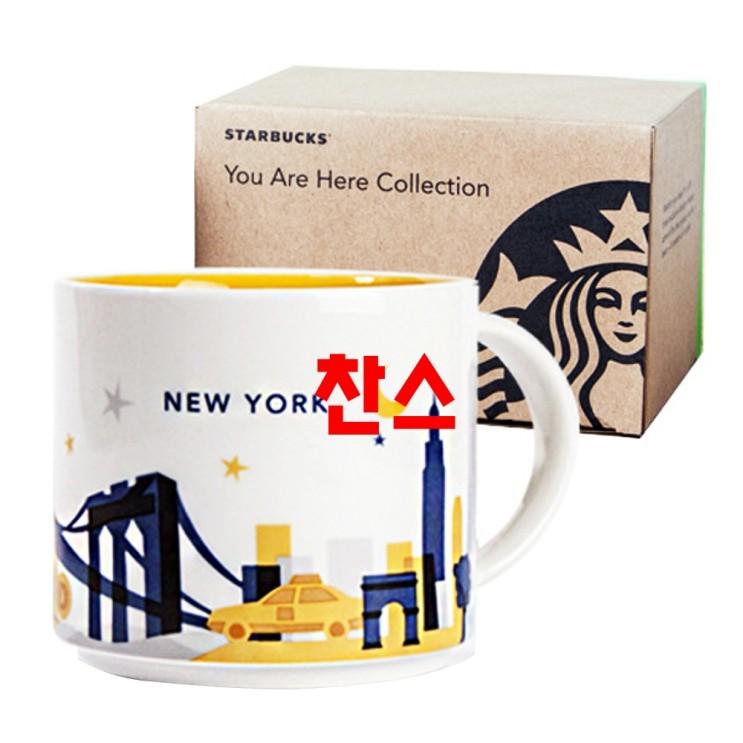 믿고쓰는 스타벅스머그컵 - 10가지 -스타벅스 유아히어 컬렉션 뉴욕 시티 머그 414ml, 화이트, 1개