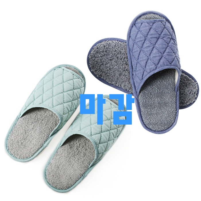 오늘 이전에 없었던 상품 청소용슬리퍼 - 10가지 -캐치맙 모노 청소 실내화 민트 + 블루, 1세트