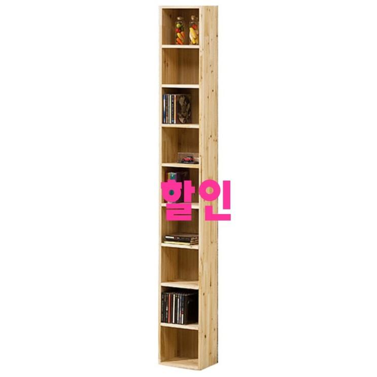 쿠팡에서 찾은 cd-dvd수납장 - 10가지 -포메리트 타워형 틈새장/CD장 9단, 삼나무 (원목)