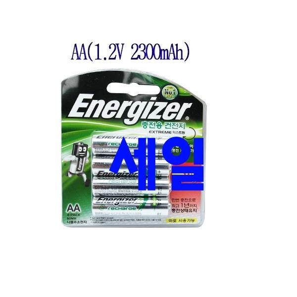 히트했던 바로 배터리 - 10가지 -에너자이저 충전지 4알, AA, 4개입