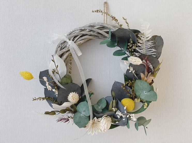 시들지 않는 꽃, 프리저브드플라워 리스 Wreath :: 부산 수영 해운대 플라워스튜디오 Ohanaflower
