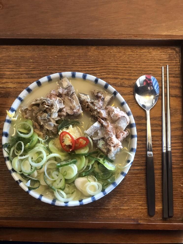 협재해수욕장 고기국수 맛집:) 고기국수가 맛있는 강식당