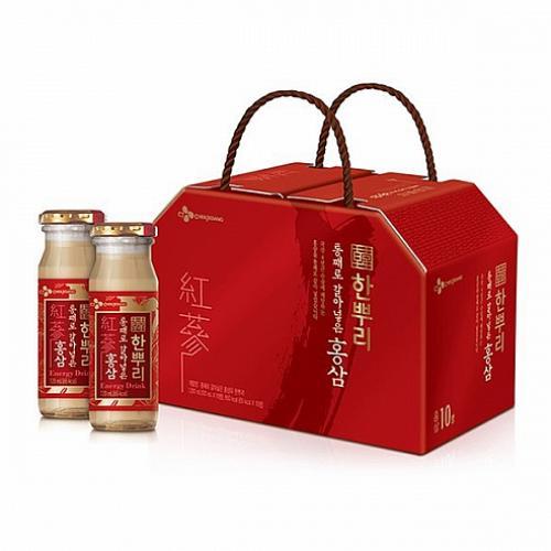 도매포인트 CJ 홍삼 한뿌리120mlx10병 건강음료 1