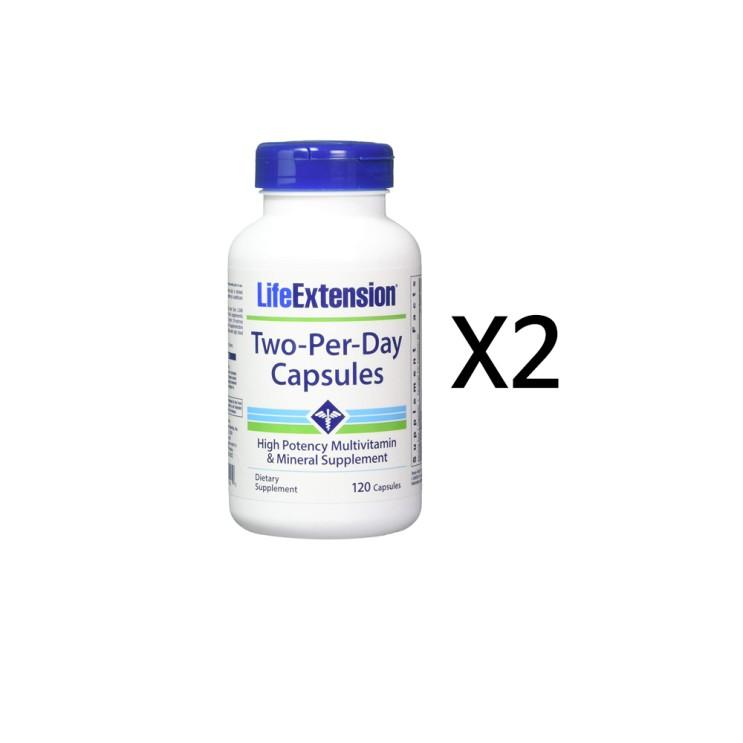 라이프익스텐션 투퍼데이 멀티비타민 120캡슐 2병 단품