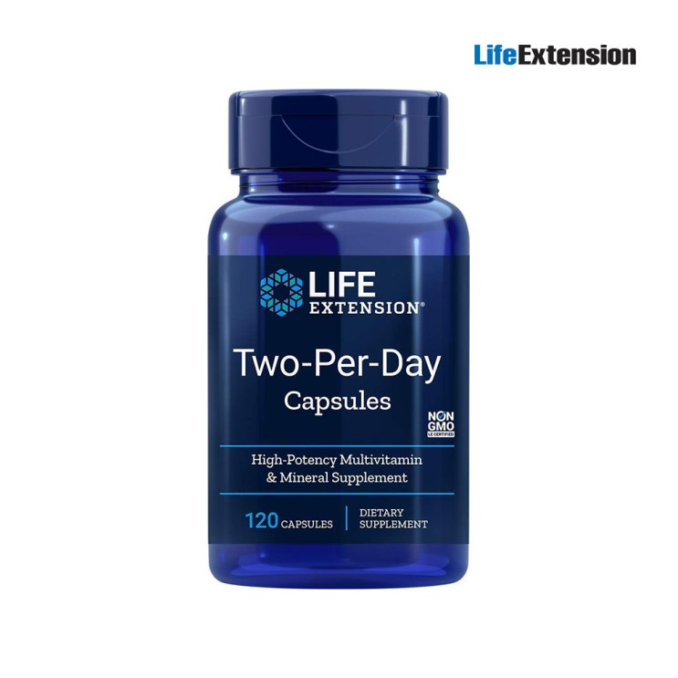 Life Extension 투퍼데이 멀티 종합비타민 120캡슐 단품