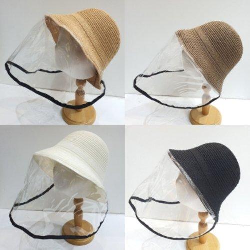[텐바이텐] 화장안묻는 투명 마스크 린넨 벙거지 모자