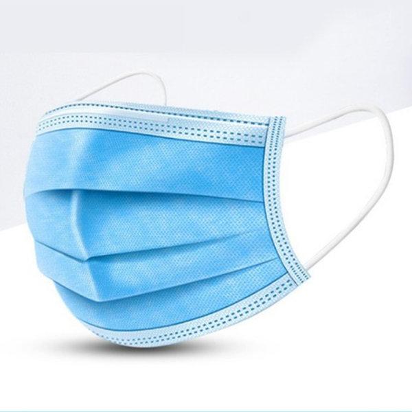 HKLP 일회용 마스크 3중필터 50매 블루