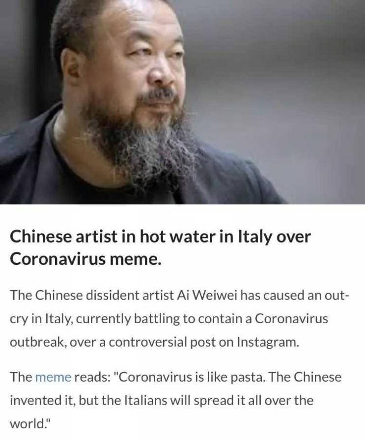 이탈리아인들 분노 유발한 중국인