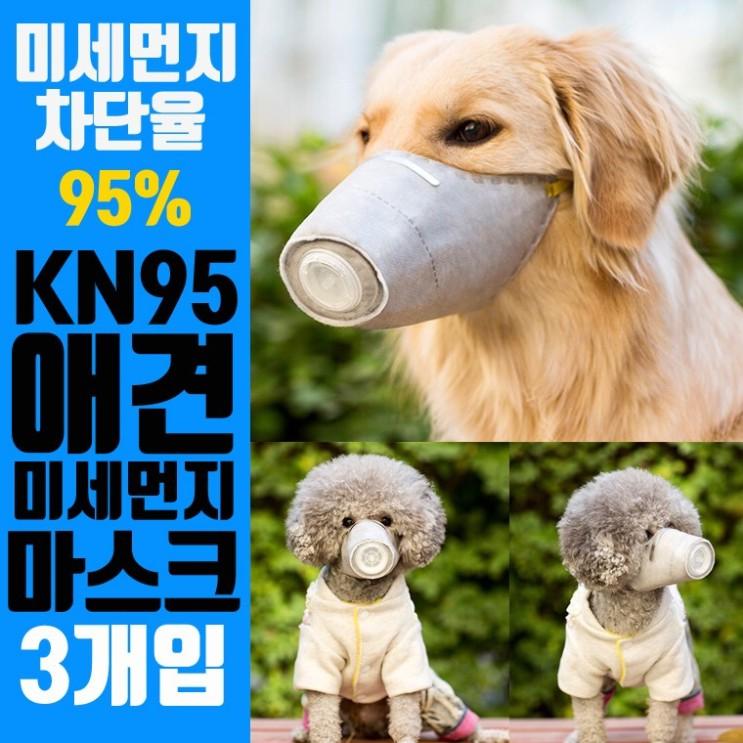 마스크, 손세정제 : KN95 미세먼지바이러스강아지마스크 3개입황사 M중 : 코로나19 방지
