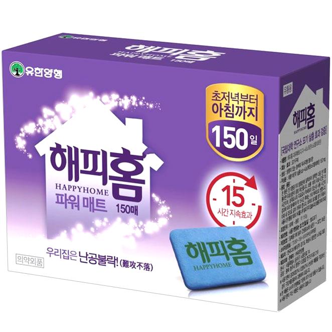 [쿠팡추천]  유한양행 해피홈 파워매트 리필 1g 150매입  리뷰