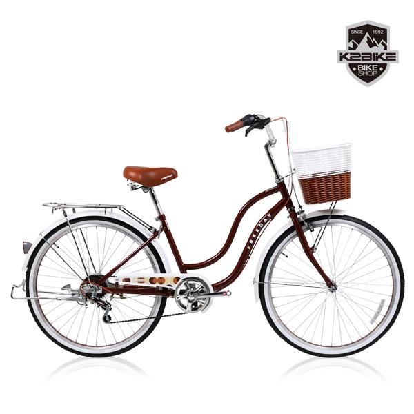 K2BIKE 2020 여성용자전거 프리데이 24인치 26인치 7단 자전거 2020 프리데이 26인치 브라운