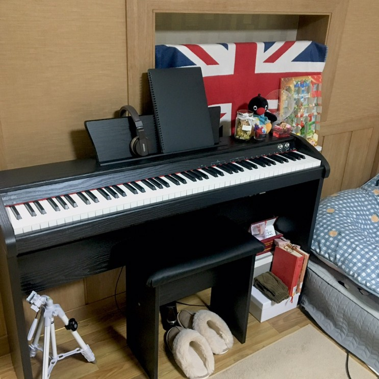 [Pingano_SLOG] 가성비 좋은 뮤디스(MUDIS) 디지털 피아노 MU-8H 추천_조립부터 실사용 꼼꼼 후기 (연주 영상O)_취미 피아노로 취.저