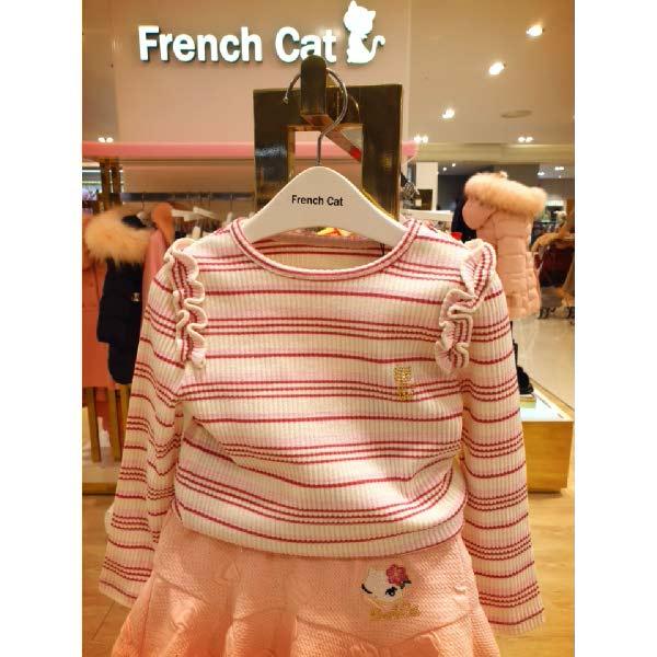 [현대백화점]프렌치캣 (Q01DKT390) 봄을 부르는 핑크 스트라이프 티셔츠k 추천해요