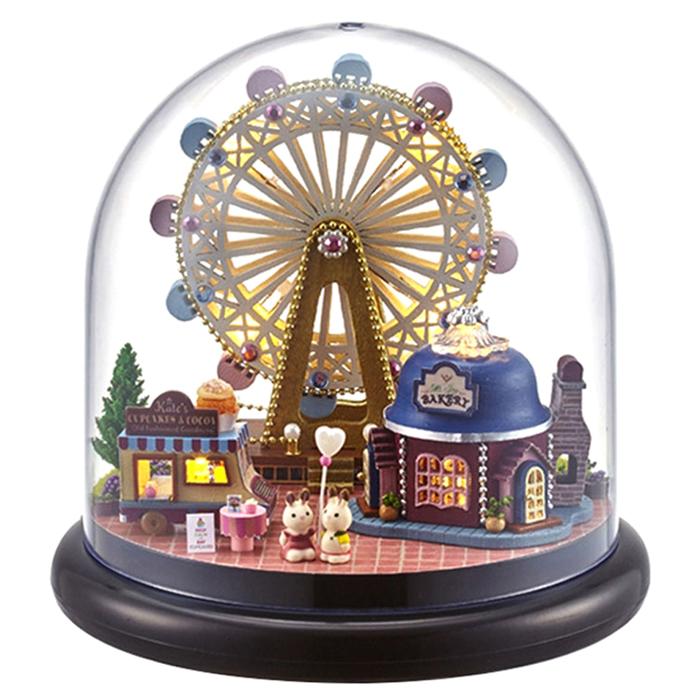 (로켓배송)아디코 DIY 미니어처 하우스 키트 놀이동산, 혼합 색상 추천해요