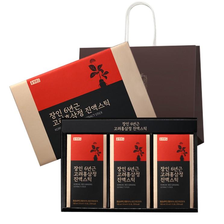 (로켓배송)홍정관장인 6년근 고려홍삼정진액스틱 + 쇼핑백, 10ml, 30개 추천해요