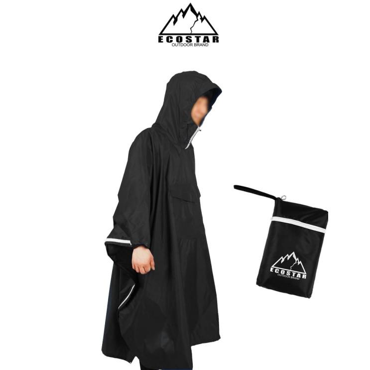 에코스타 타프 판초우의 캠핑 낚시 남녀공용 우비 비옷, 블랙 추천해요