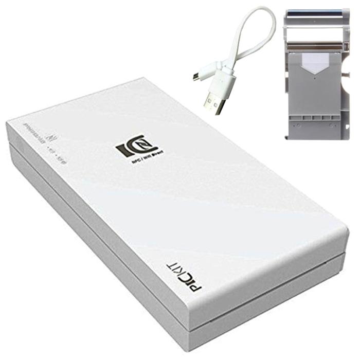 (로켓배송)프리닉스 PICKIT M2 포토프린터 화이트 + 인쇄용지 10매 + USB 5핀 충전 케이블, 3종, 1세트 추천해요
