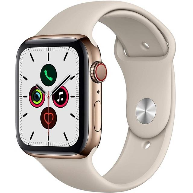 애플 Apple Watch Series 5 GPS  Cellular 44mm Gold Stainless Steel Case with Sto