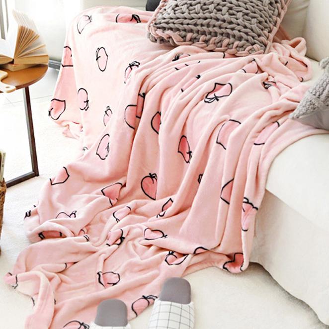 (로켓배송)바자르 모모찡 극세사 담요 겸 이불, 혼합 색상 추천해요