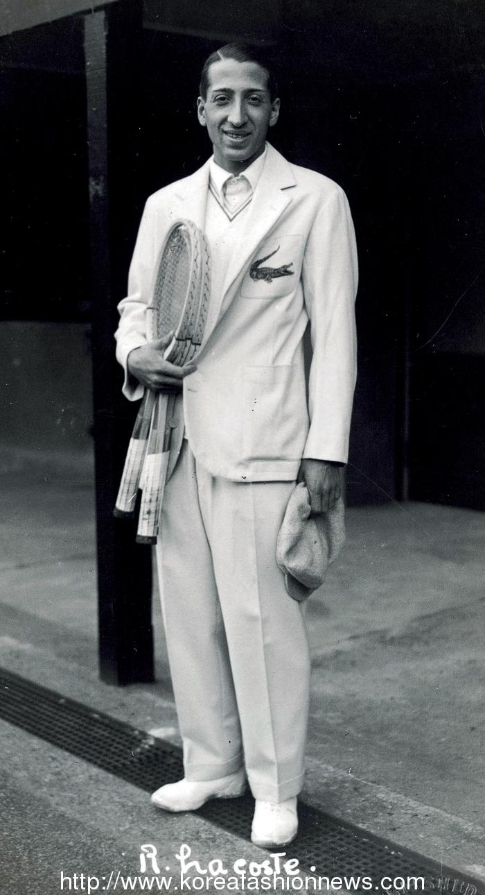 라코스테 창시자 르네라코스테 최초의 반팔폴로셔츠 악어로고
