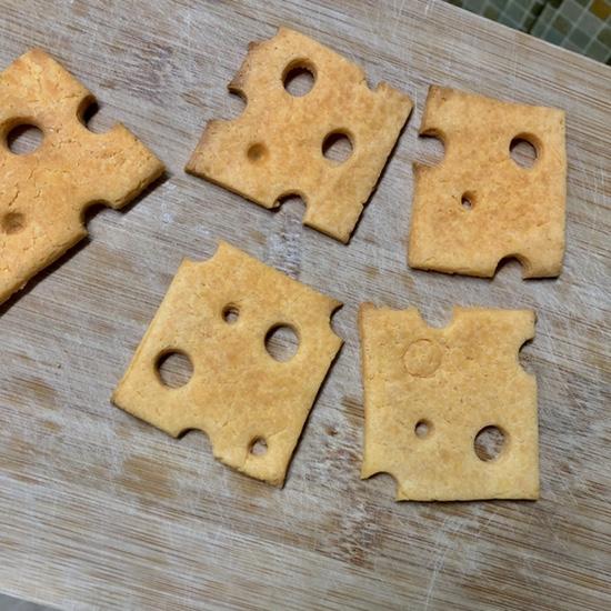 홈베이킹) 첫 에어프라이어 쿠키 • 황치즈 쿠키• 치즈 모양 쿠키(노버터 쌀가루)