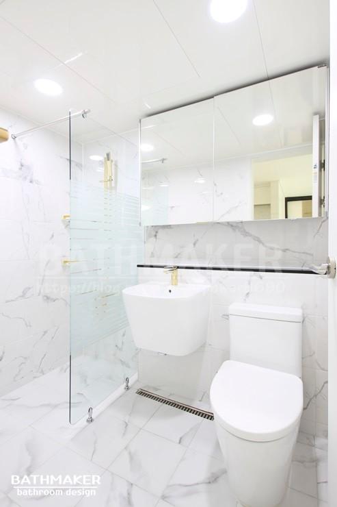 삼선동 욕실인테리어) 성북구 삼선 푸르지오 거실욕실 인테리어