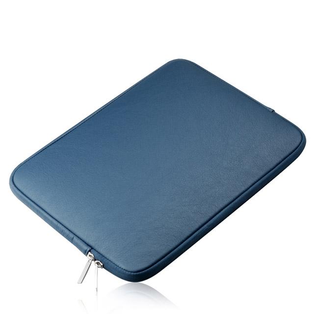 플럭스 가죽 방수 맥북 노트북 파우치 블루(BLUE), 13in