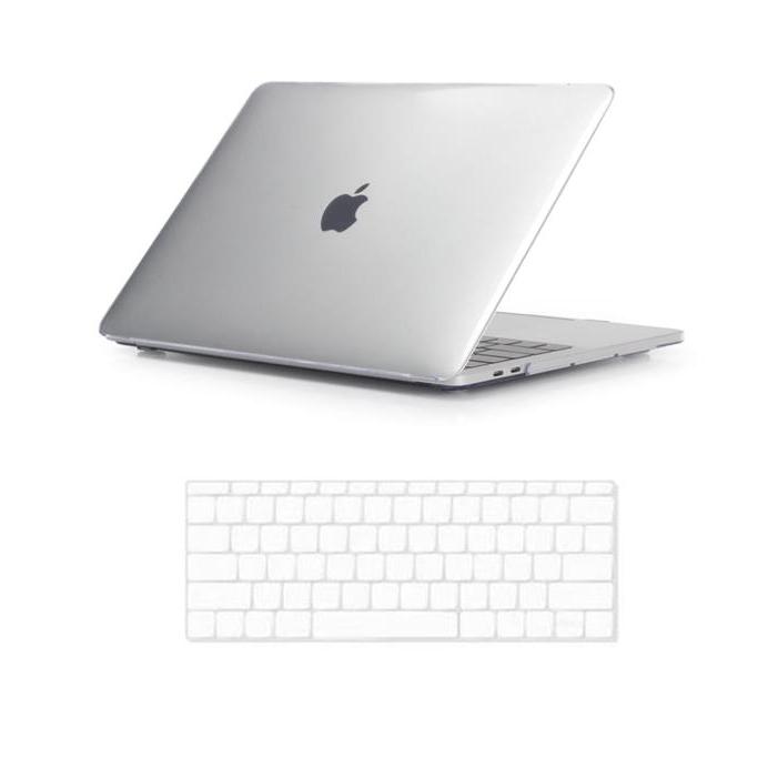 뉴비아 맥북용 키스킨 투명 + 크리스탈 하드케이스 투명 맥북프로15터치 A1990, 혼합 색상, 1세트