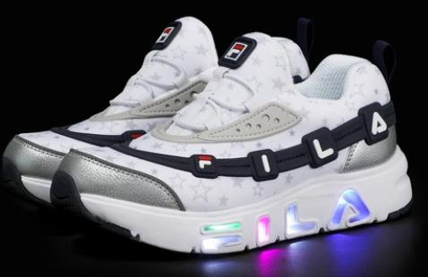 휠라 꾸미 라이트(LED)!! 반짝반짝 편하고 가벼운 아이 신발