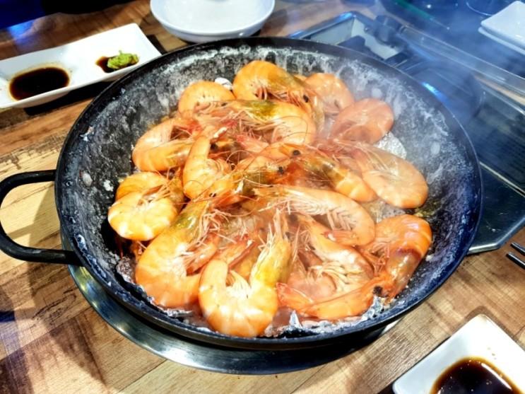 경남 고성 새우 맛집 일번수산왕새우 새우머리튀김 대박!! 가리비는 실패ㅜㅜ