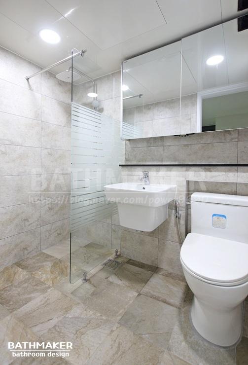 욕실공사 잘하는곳! 휘경 동양아파트 거실, 안방 화장실 인테리어
