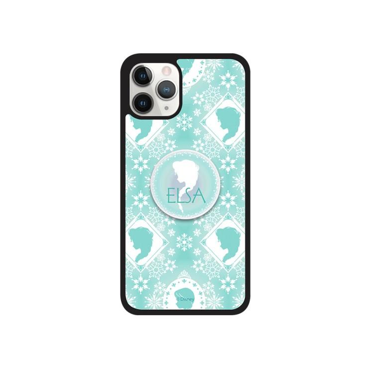 디즈니 아이폰12프로 겨울왕국 패턴 스마트톡 알룸 핸드폰 케이스 - [ 엘사 / 그립톡 범퍼 ]