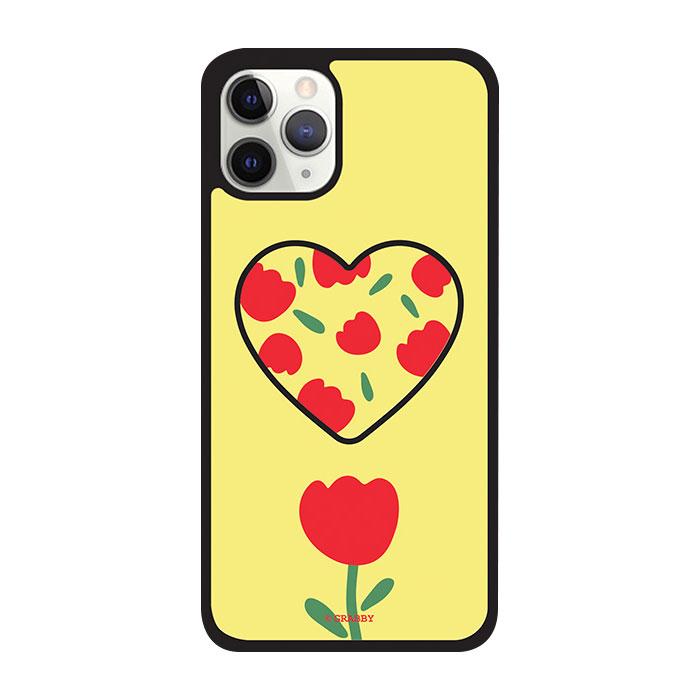 그래비 아이폰12 튤립 하트 스마트톡 알룸 핸드폰 케이스 - [ 범퍼 / 그립톡 꽃 ]