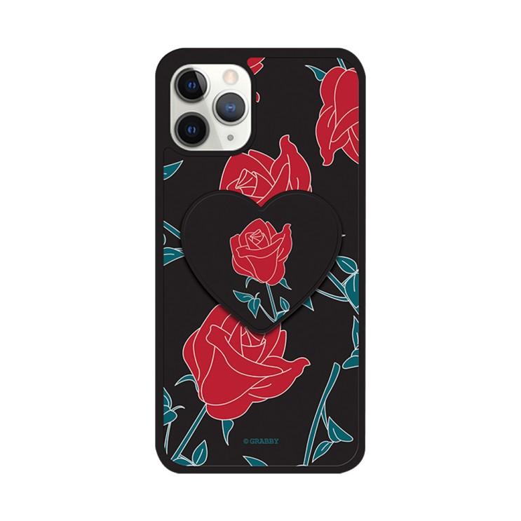 그래비 아이폰12 로즈 하트 스마트톡 알룸 핸드폰 케이스 - [ 장미 / 범퍼 그립톡 ]