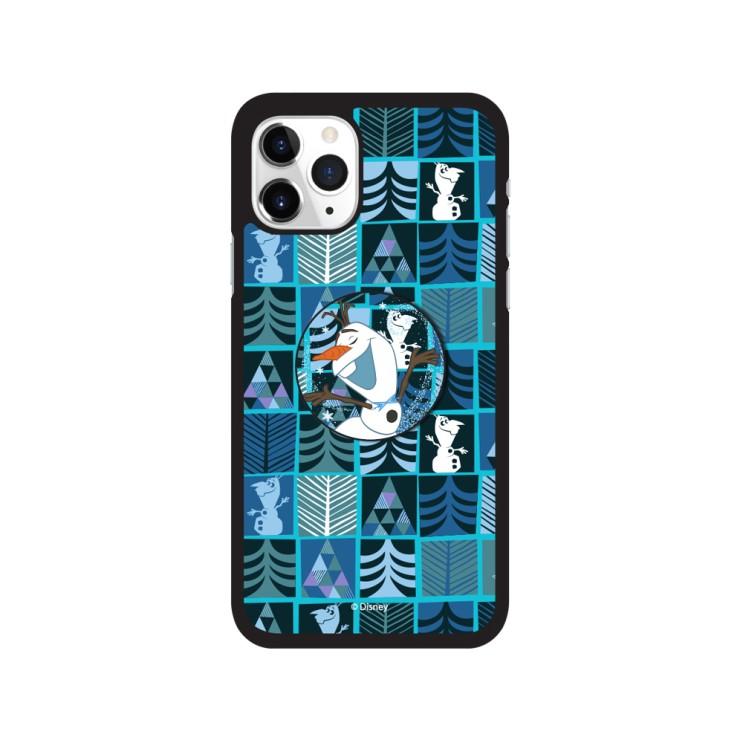 디즈니 아이폰12프로맥스 올라프 패턴 스마트톡 알룸 핸드폰 케이스 - [ 겨울왕국 / 캐릭터 그립톡 범퍼 ]