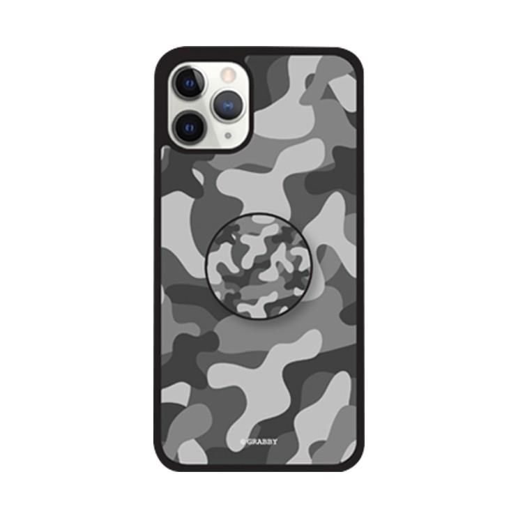그래비 아이폰12프로 밀리터리 스마트톡 알룸 핸드폰 케이스 - [ / 패턴 그립톡 범퍼 ]