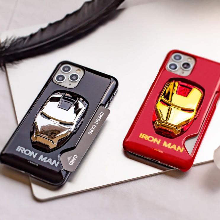 하푼 아이폰12 마블 아이언맨 카드슬림핏