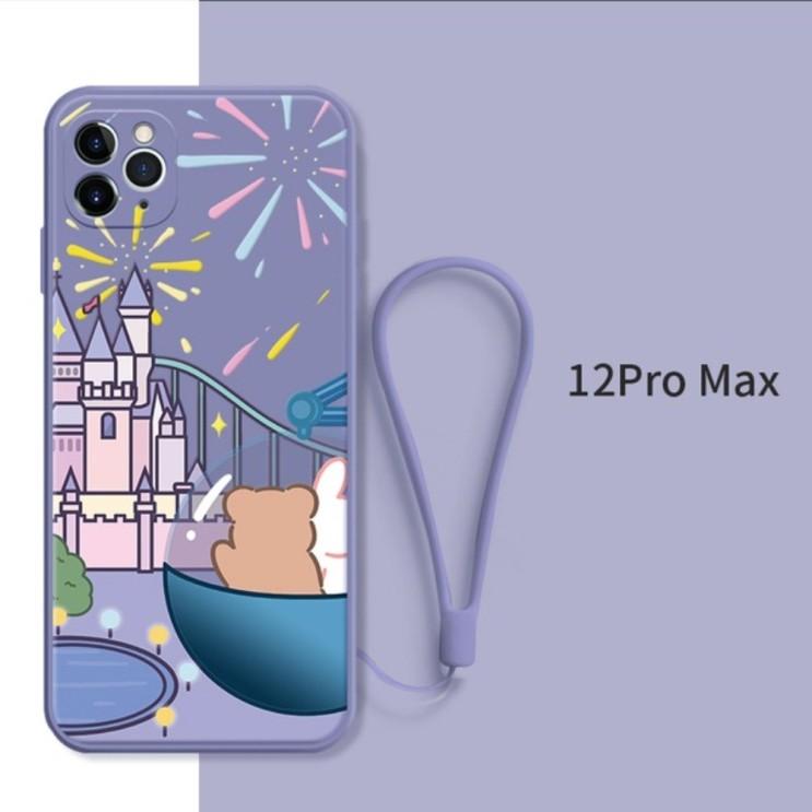 뽀짝 갬성 귀여운 아이폰12 프로맥스 케이스 확실한 보호 퍼플 디즈니 성